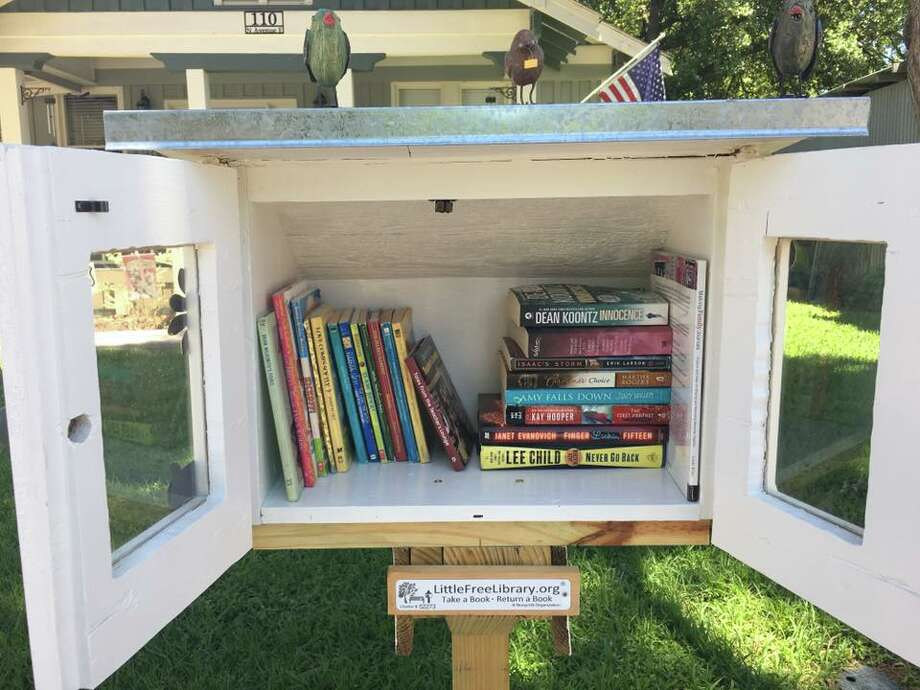 Ross Adkins brings Little Free Library to Humble. Photo: Courtesy Photo