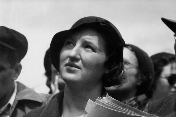 "Dorothea Lange, ""May Day Listener at Rally"" (ca. 1934)"