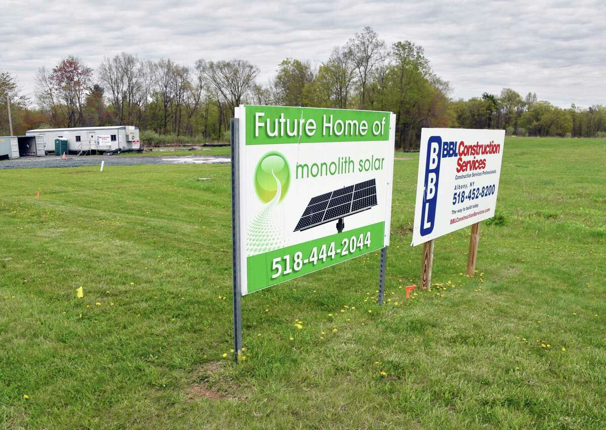 Monolith Solar still hasn't been able to close on $5 million loan for new headquarters Thursday May 4, 2017 in Slingerlands, NY. (John Carl D'Annibale / Times Union)