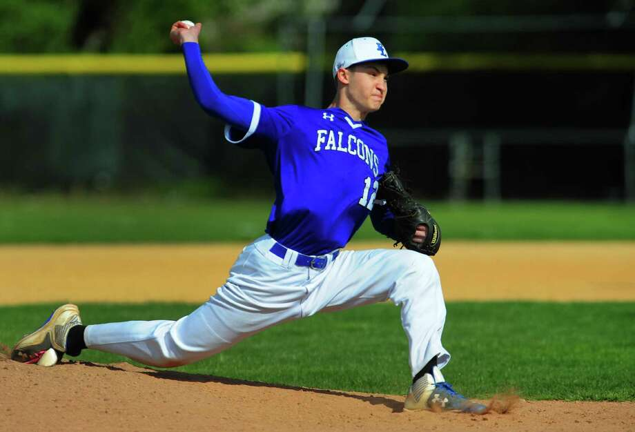 Fairfield Ludlowe's Sam Meyers pitches during baseball action against Westhill at Kiwanis Field in Fairfield, Conn. on Thursday May 4, 2017. Photo: Christian Abraham / Hearst Connecticut Media / Connecticut Post