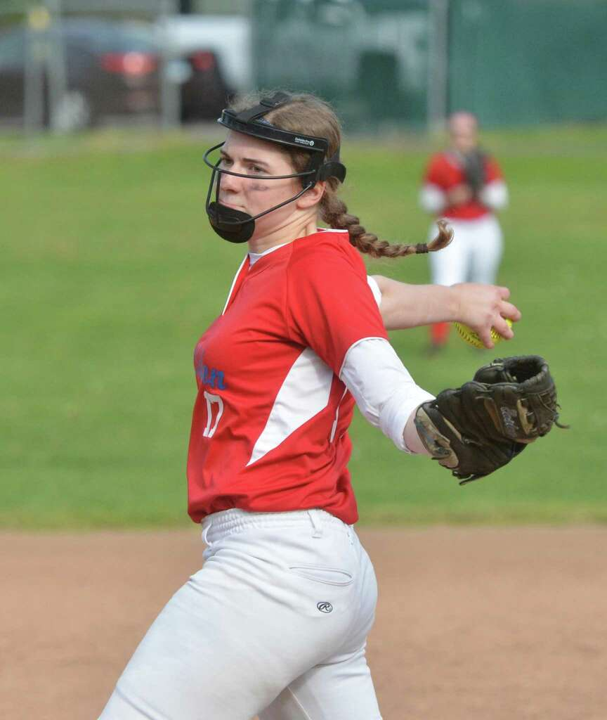 Brien McMahons 17 Rachel Dweyer On The Pitchers Mound Vs Norwalk High School In