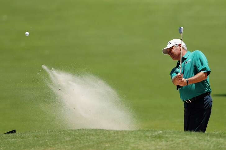 Blasting out of a bunker on No. 15 on Thursday, Fred Couples admittedly didn't play or feel particularly well during the pro-am at The Woodlands Country Club. But his bad back has held up during a solid start in 2017.