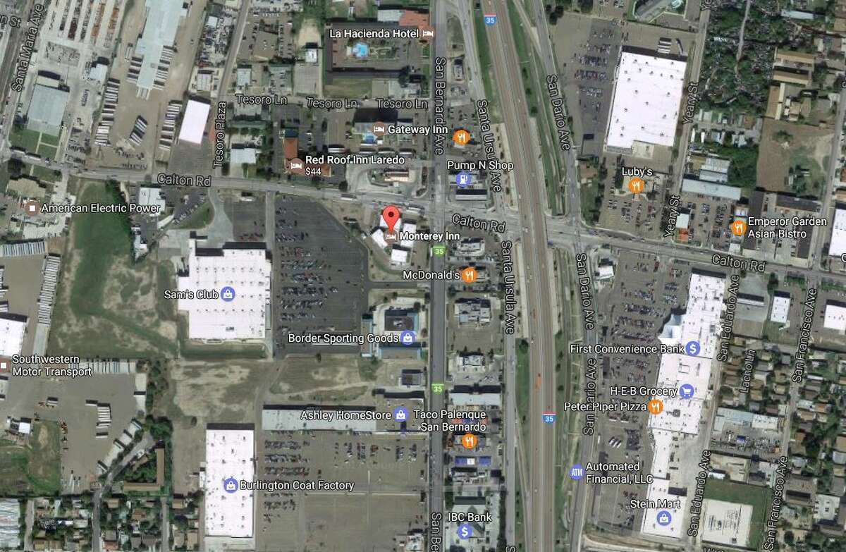 The location of the Monterrey Inn, where the beating allegedly occurred, is shown.