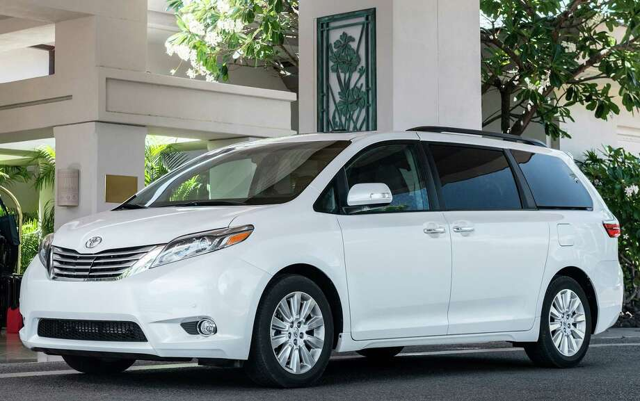 With exterior and interior freshenings just two years ago, the Toyota Sienna minivan for 2017 gets a new V-6 engine and more power. Photo: Toyota