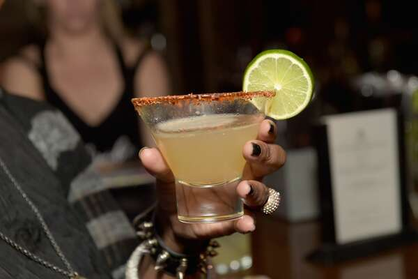 NEW YORK, NY - FEBRUARY 21:  A view of the 'El Duelo' cocktail at Tequila Herradura premieres 'Luck Is Earned' on National Margarita Day eve featuring a live performance and discussion with Grammy winner Eric Krasno on February 21, 2017 in New York City.  (Photo by Jason Kempin/Getty Images for Tequila Herradura)