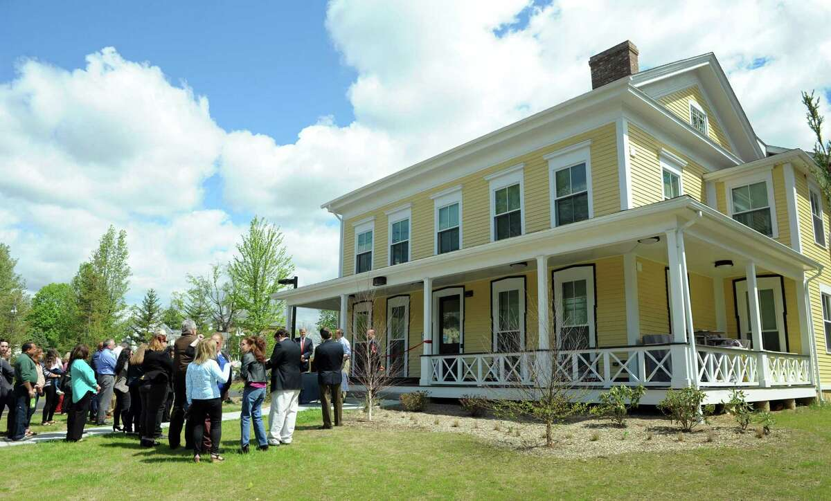 Barton Commons, a mixed-income development on East Street in New Milford, hosted a grand opening Wednesday.