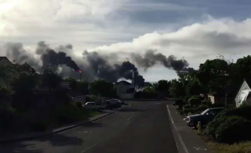 A power outage at a Valero Refinery in Benicia Friday morning caused smoke and flaring.