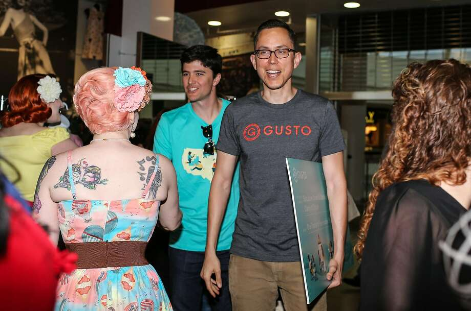 Gusto CEO Josh Reeves, right, and Mitch Houff arrive at Subculture Corsets & Clothing in Jacksonville, Fla., Thursday, May 4, 2017 -- Gary Lloyd McCullough / Special to The Chronicle Photo: Gary Lloyd McCullough, Special To The Chronicle