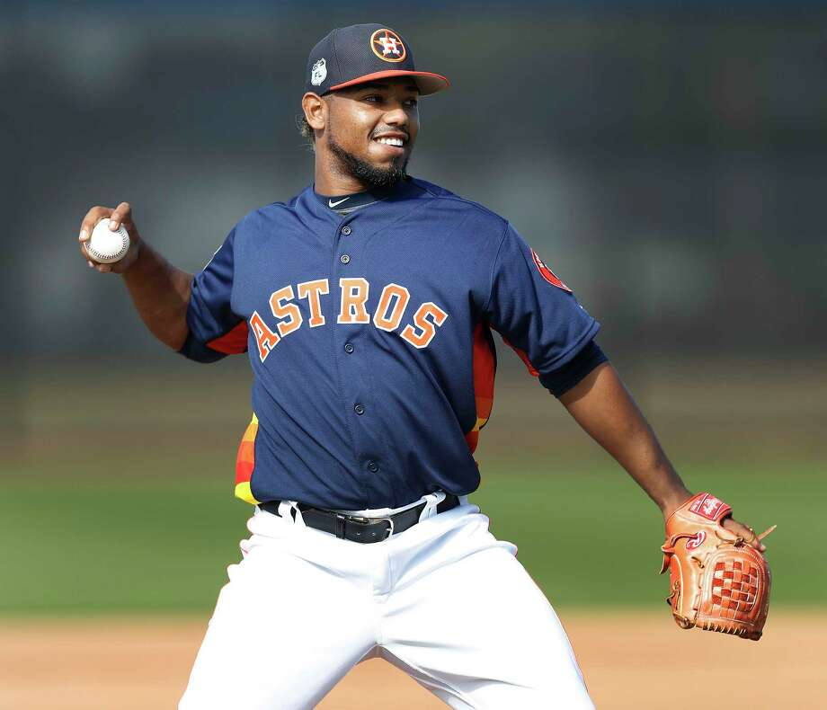 Houston Astros pitcher Dayan Diaz (38) during spring training at The Ballpark of the Palm Beaches, in West Palm Beach, Florida, Friday, February 24, 2017. Photo: Karen Warren, Houston Chronicle / 2017 Houston Chronicle