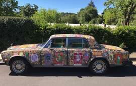 Donna Ewald Huggins' Summer of Love art car, a Rolls Royce