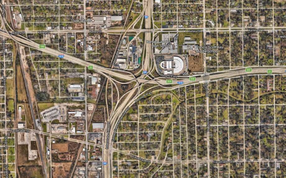 Interstate 69 northbound at 610 LoopClosed much of the day Friday due to a wreck. If repoened, will close again Friday at 9 p.m. to repair damage to a guardrail. Will reopen Monday 5 a.m., earlier if the work is finished faster. Photo: Google Earth