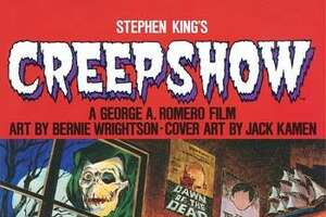 "Cover to ""Creepshow,"" the graphic novel adaptation of the 1982 horror film by Stephen King and George A. Romero. The comic magazine returns to print with a new paperback release May 9, 2017."