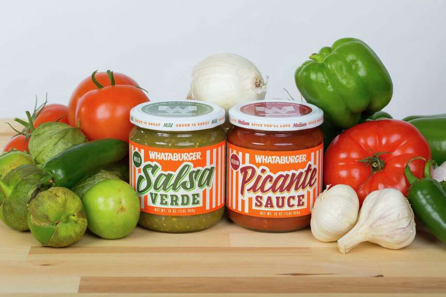 Whataburger Picante Sauce and Salsa Verde will hit most H-E-B stores starting next week. Photo: Courtesy Photo