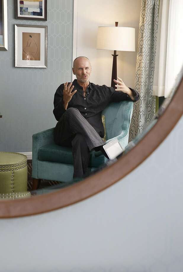 Chip Conley, past Airbnb global head of hospitality, is back in the hotels business, as he shows us Laurel Inn, which he renovated to run as a hybrid of a vacation rental on Thursday, May 4, 2017, in San Francisco, Calif. Photo: Liz Hafalia, The Chronicle