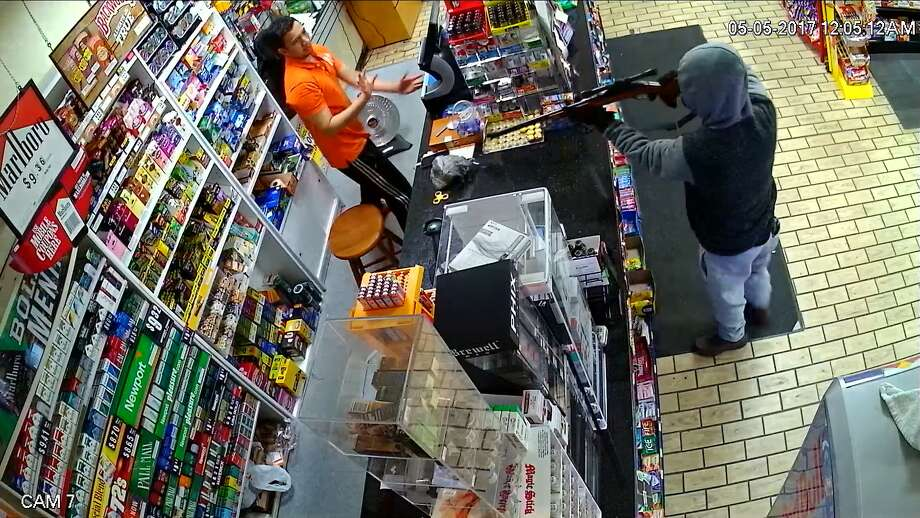 Stratford police are seeking the suspect who robbed the 24.7 Express on Barnum Avenue just after midnight May 5. Police believe it may have been the same person who robbed the store on April 30. Photo: Contributed/ Stratford Police