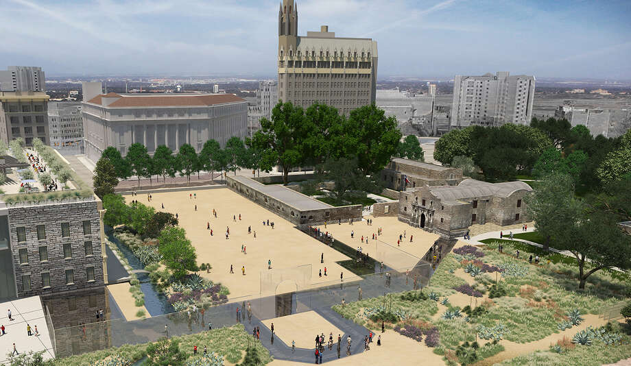 The Alamo Master Plan Committee has released  detailed renderings of the new Alamo Complex.  Photo: Preservation Design Partnership