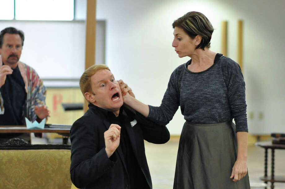 """Grant Goodman and Tessa Auberjonois rehearse a scene for """"Heartbreak House,"""" opening at Hartford Stage on Thursday, May 11, and running through Sunday, June 11. Photo: Liss Couch-Edwards / Contributed Photo"""