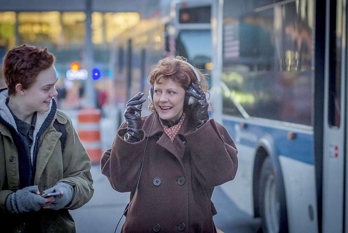 "Dolly (Susan Sarandon, right) struggles to accept her transgender grandson, Ray (Elle Fanning), in ""3 Generations."" Credit: Dimension Films"