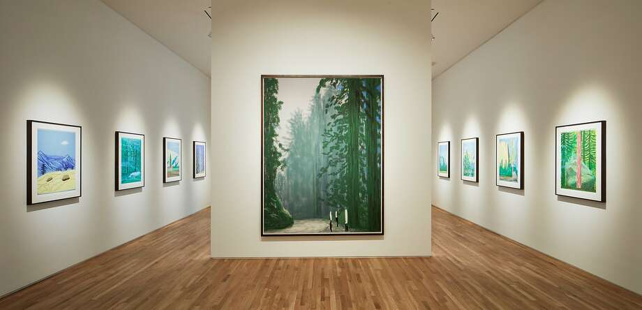 "Pace Palo Alto is presenting David Hockney's ""The Yosemite Suite"" of works created on iPad through June 11. Photo: Pace Palo Alto"