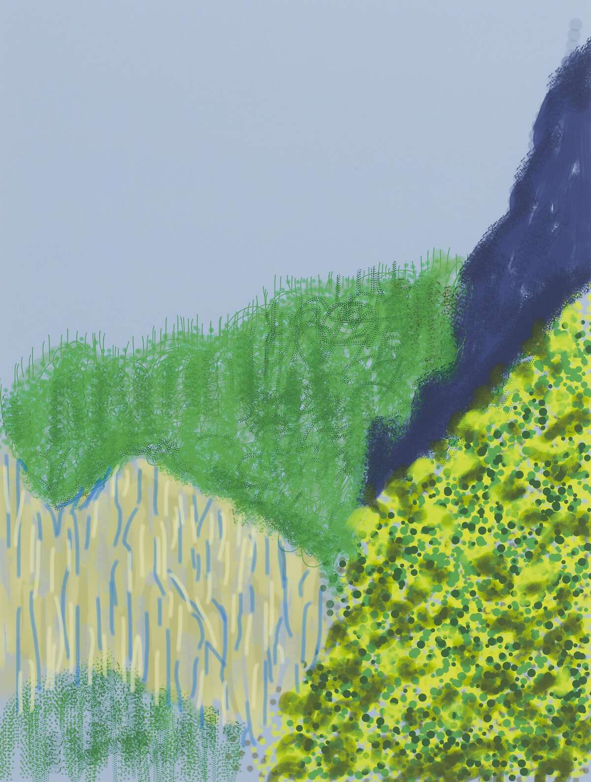 """Selections from David Hockney's """"Yosemite Suite,"""" on view at �Pace Palo Alto"""