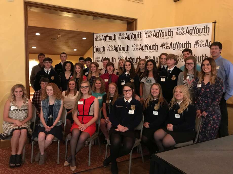 Thirty-six area FFA and 4-H high school students were recognized Wednesday in Amarillo by AgTexas Farm Credit in connection with its AgYouth of the Month program. Plainview area honorees included Shadee Tye and Colti Wright, Plainview FFA; Blaine Patton, Briscoe 4-H; Layne Mustian, Hale 4-H; Lane Coffman, Littlefield FFA; and Deidra Pinkerton, Olton FFA.