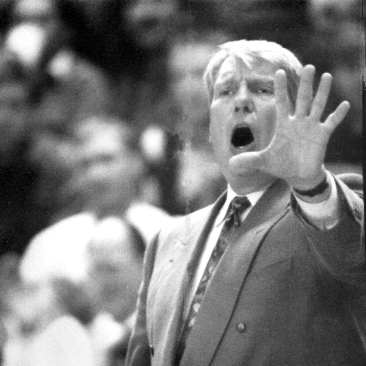 Warriors Coach Don Nelson calls out a play, November 4, 1992 ran 11/05/1992, p. C1