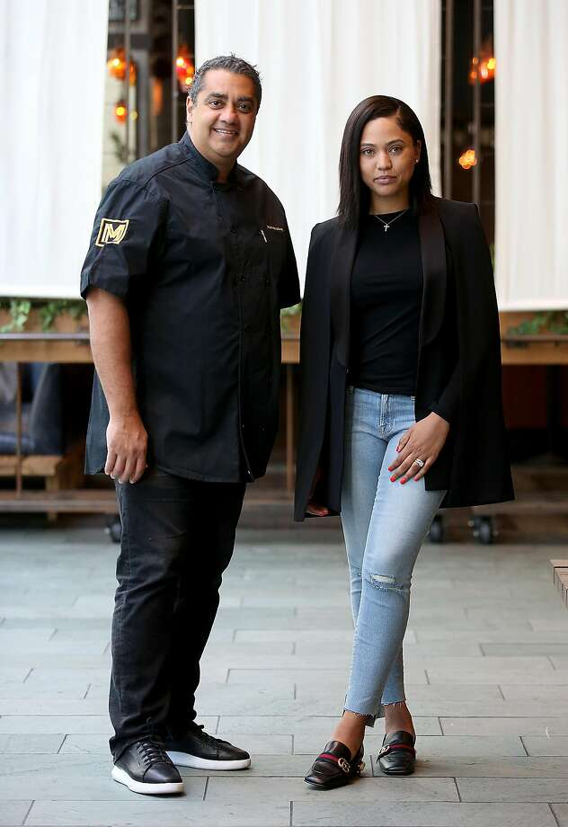 Ayesha Curry and Michael Mina and  Ayesha Curry partner on new restaurant called International Smoke which will replace RN74 seen on Thursday, May 4, 2017, in San Francisco, Calif. Photo: Liz Hafalia, The Chronicle