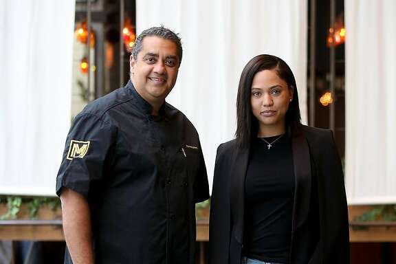 Ayesha Curry and Michael Mina and  Ayesha Curry partner on new restaurant called International Smoke which will replace RN74 seen on Thursday, May 4, 2017, in San Francisco, Calif.