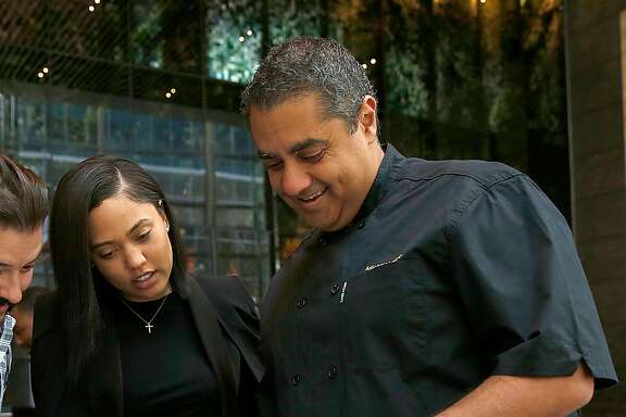 Ayesha Curry (left) and Michael Mina (right) partner on new restaurant called International Smoke which will replace RN74 seen on Thursday, May 4, 2017, in San Francisco, Calif.