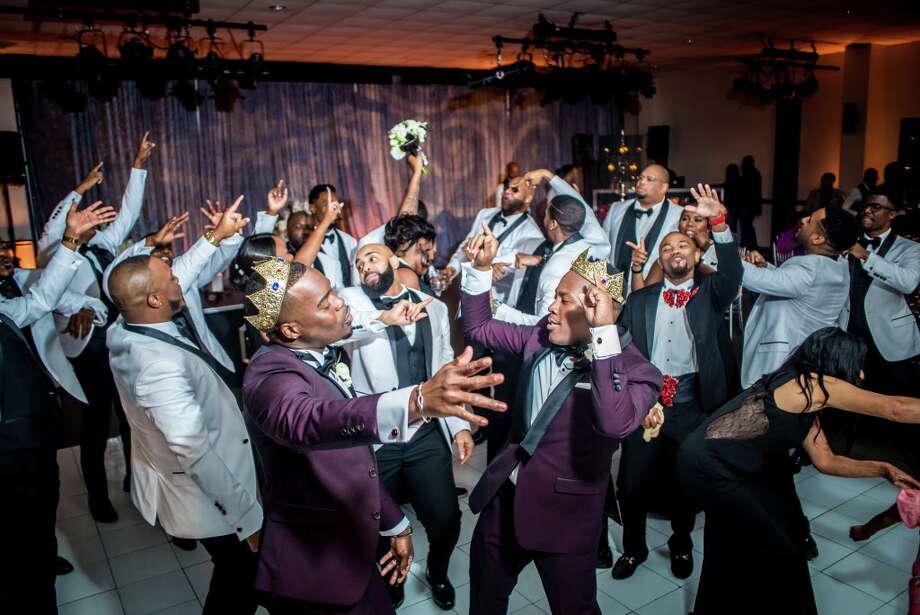The dance floor at Adrian Homer and Harrison Guy's wedding Photo: Ken Maurice Studios, Photographer / 2015 Ken Maurice Studios