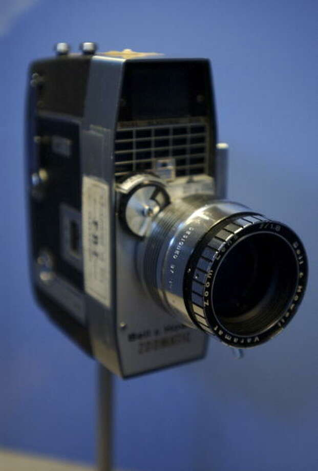 In 1963, the camera used by Zapruder that captured the assassination of President John F. Kennedy was a high-end Bell & Howell model. Photo: Tom Williams/Roll Call/Getty Images, Contributor / CQ-Roll Call Group