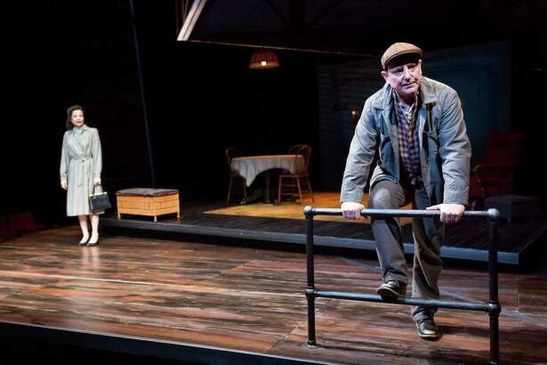 """Josie de Guzman and Mark Zeisler appear in the Alley Theatre production of """"A View From the Bridge."""""""