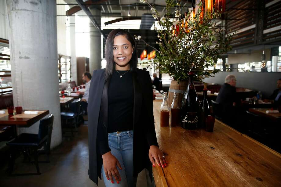 Ayesha Curry is pictured earlier this year in the restaurant that would become International Smoke Photo: Liz Hafalia, The Chronicle
