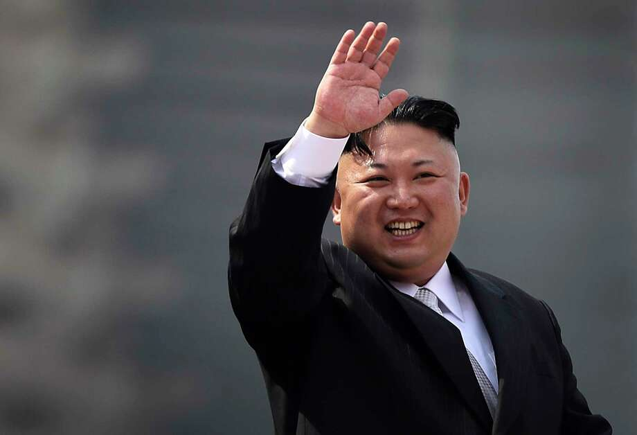 North Korean leader Kim Jong Un waves during a military parade in Pyongyang in April to celebrate the 105th birth anniversary of Kim Il Sung, the country's late founder and grandfather of current ruler Kim Jong Un.  (AP Photo/Wong Maye-E, File) Photo: Wong Maye-E, STF / Copyright 2017 The Associated Press. All rights reserved.