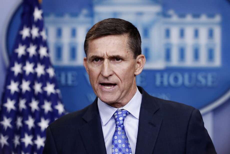 FILE - In this Feb. 1, 2017 file photo, then-National Security Adviser Michael Flynn speaks during the daily news briefing at the White House, in Washington. The White House is refusing to provide lawmakers with information and documents related to President Donald Trump's first national security adviser's security clearance and payments from organizations tied to the Russian and Turkish governments. (AP Photo/Carolyn Kaster) Photo: Carolyn Kaster, Associated Press