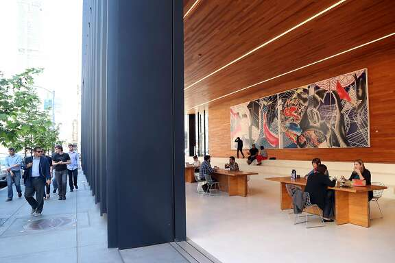 Public space at LinkedIn, 222 2nd Street, in San Francisco, Calif., on Monday, May 1, 2017.