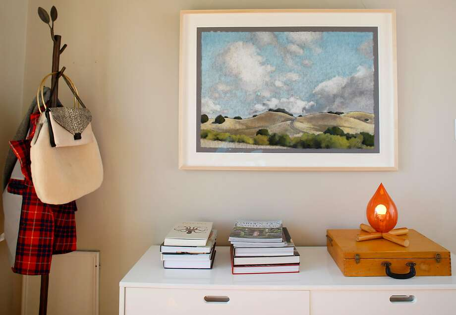 A painting in the bedroom at the Rockridge home of Trish Crawley. Photo: Liz Hafalia, The Chronicle