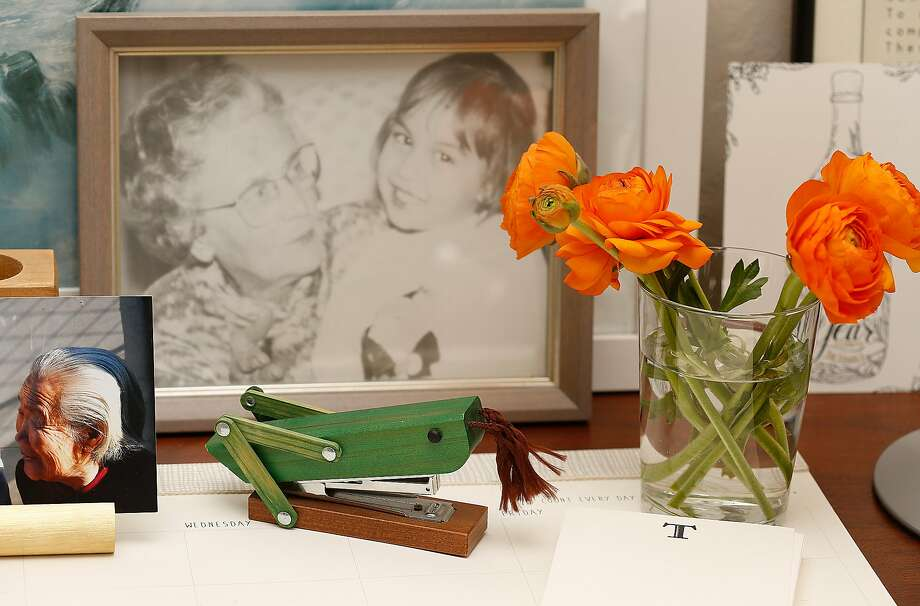 Vignette on the desk of Trish Crawley in Rockridge. Photo: Liz Hafalia, The Chronicle