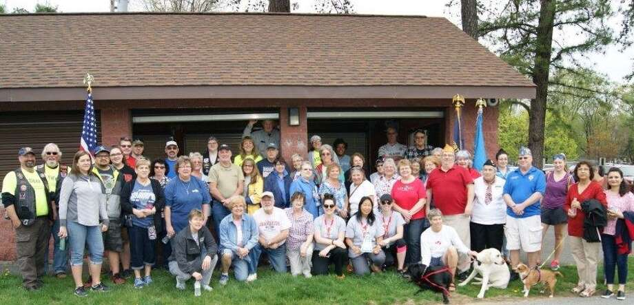 Participants gather during the Veteran Walkathon on Saturday, April 29, at Cook Park in Colonie. The walk was sponsored by Albany County American Legion Sons and Auxiliary and benefited veteran medical facilities, assisted living homes, the Albany Fisher House and non-profit T.A.P.S. (Tragedy Assistance Program For Survivors). (Submitted by Judy Benner)