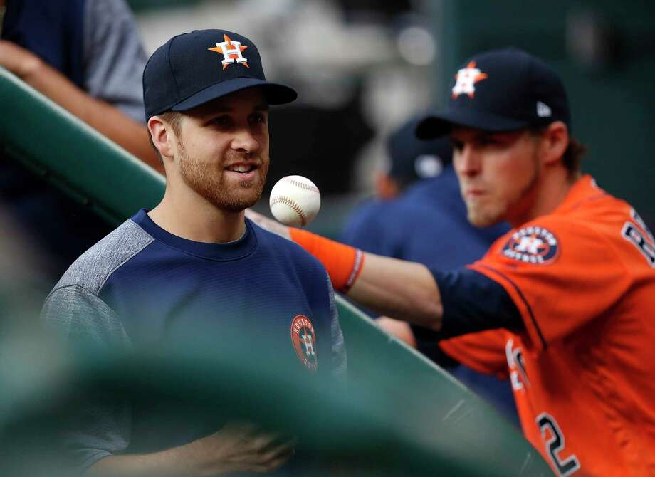 Astros pitcher Collin McHugh will play catch every other day for the first week of his process of returning from elbow impingement but said his progress will depend on how his arm and body respond.  Photo: Karen Warren, Staff Photographer / 2017 Houston Chronicle