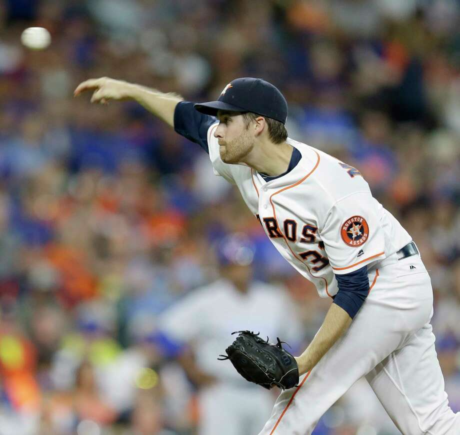 Houston Astros Collin McHugh pitches against the Chicago Cubs during game at Minute Maid Park Saturday, Sept. 10, 2016, in Houston.  ( Melissa Phillip / Houston Chronicle ) Photo: Melissa Phillip, Staff / © 2016 Houston Chronicle