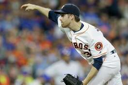 Houston Astros Collin McHugh pitches against the Chicago Cubs during game at Minute Maid Park Saturday, Sept. 10, 2016, in Houston.  ( Melissa Phillip / Houston Chronicle )