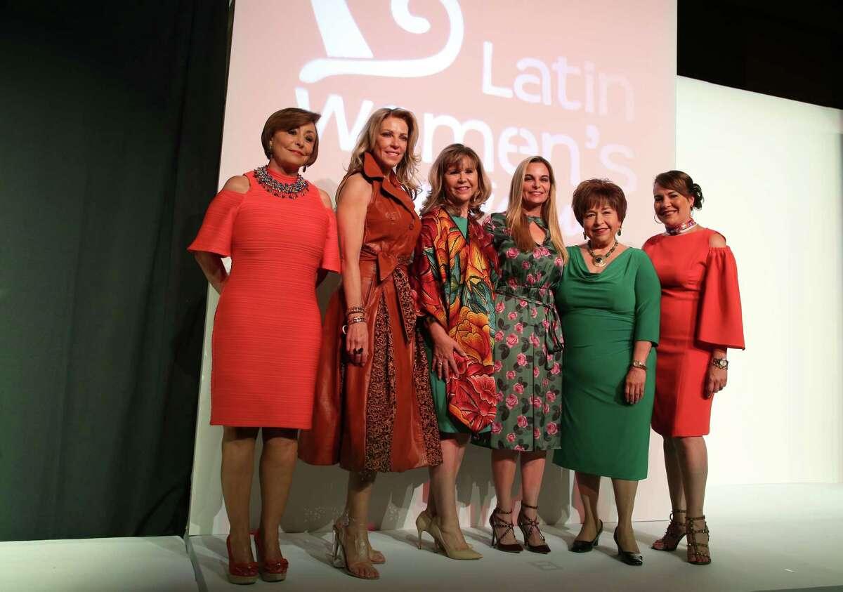 Patricia Herrera, left to right, Susana Brener de Stern, Cyndy Garza Roberts, Micheline Ferrand Newall, Trini Mendenhall, and Rosa F. Hernandez