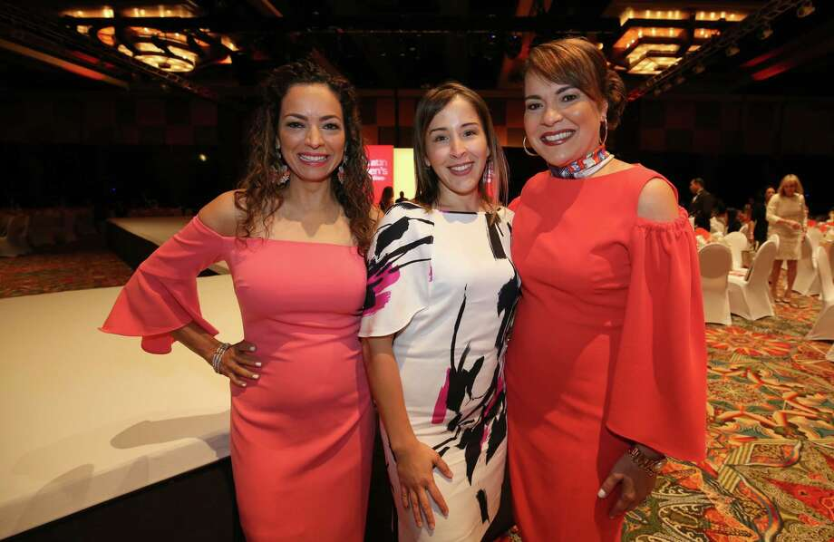 Yvette Casares Willis, Caroline Chapman, and Rosie F. Hernandez at the Society Latin Luncheon Friday, May 5, 2017, in Houston. Photo: Godofredo A. Vasquez, Houston Chronicle / Godofredo A. Vasquez
