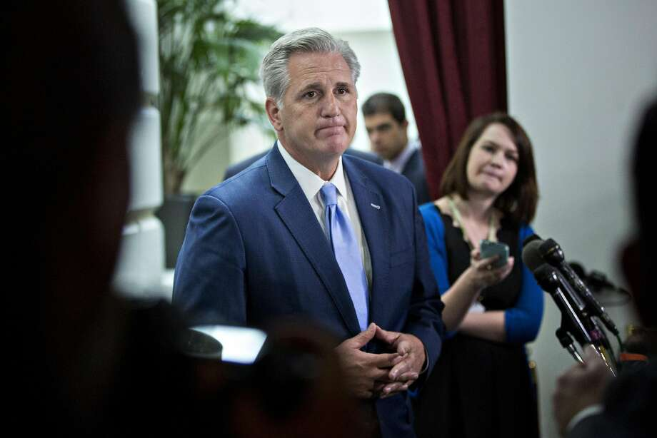 "House Majority Leader Kevin McCarthy is among the California Republicans who voted for what Democrats are dubbing ""Trumpcare"" who are likely to get an earful this week during the coming congressional recess. Photo: Andrew Harrer, Bloomberg"