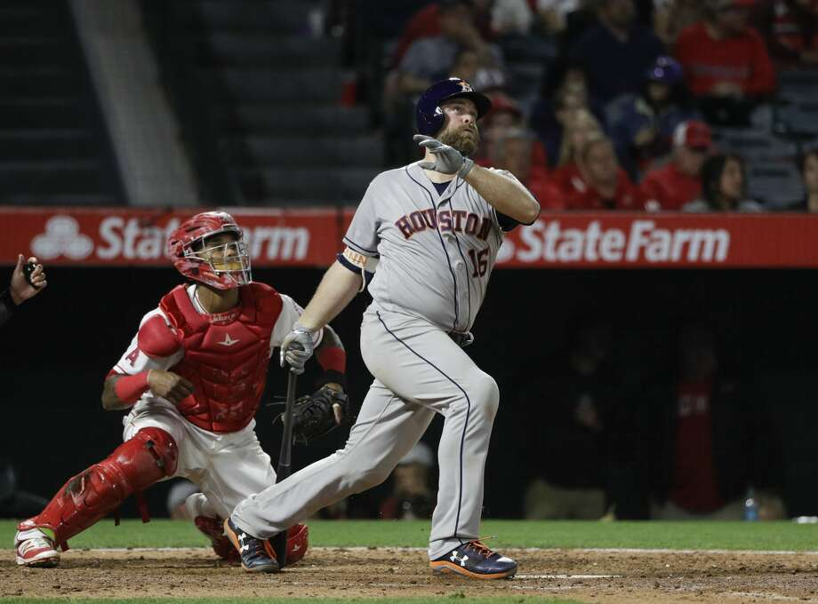 Astros catcher Brian McCann has been placed on the 7-day concussion DL. He will be eligible to return Saturday. Photo: Jae C. Hong/Associated Press