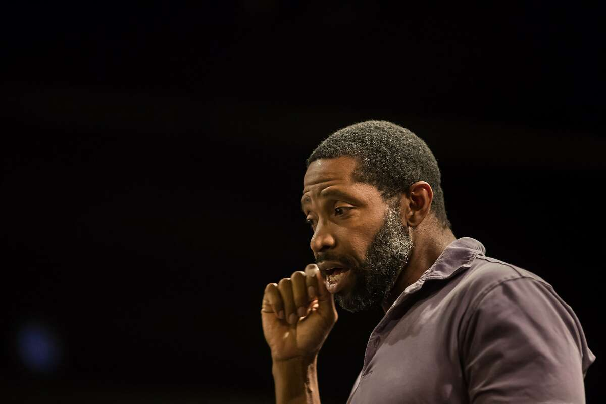 """Aldo Billingslea director of Lorraine Hansberry Theatre's """"Home"""" during rehearsal on Friday, May 5, 2017 in San Francisco, Calif."""