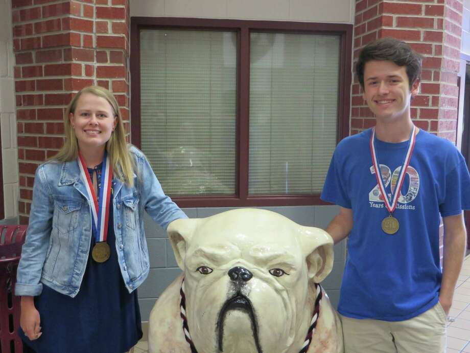 Magnolia ISD has announced  two students placed in medal positions at the state meet. Lucille Stinn, a senior, has been competing in Ready Writing since she was a freshman, winning at district in 2015 and 2016, winning at region in 2016 and 2017, and this year qualifying and placing 3rd at the state meet. Jacob Sass, junior, is a two-time Accounting competitor, winning at district and region in 2016 and 2017, achieving a perfect score at the 2017 region meet, qualifying for the state level in both 2016 and 2017, and this year placing 4th at the state meet. Photo: Courtesy Photo