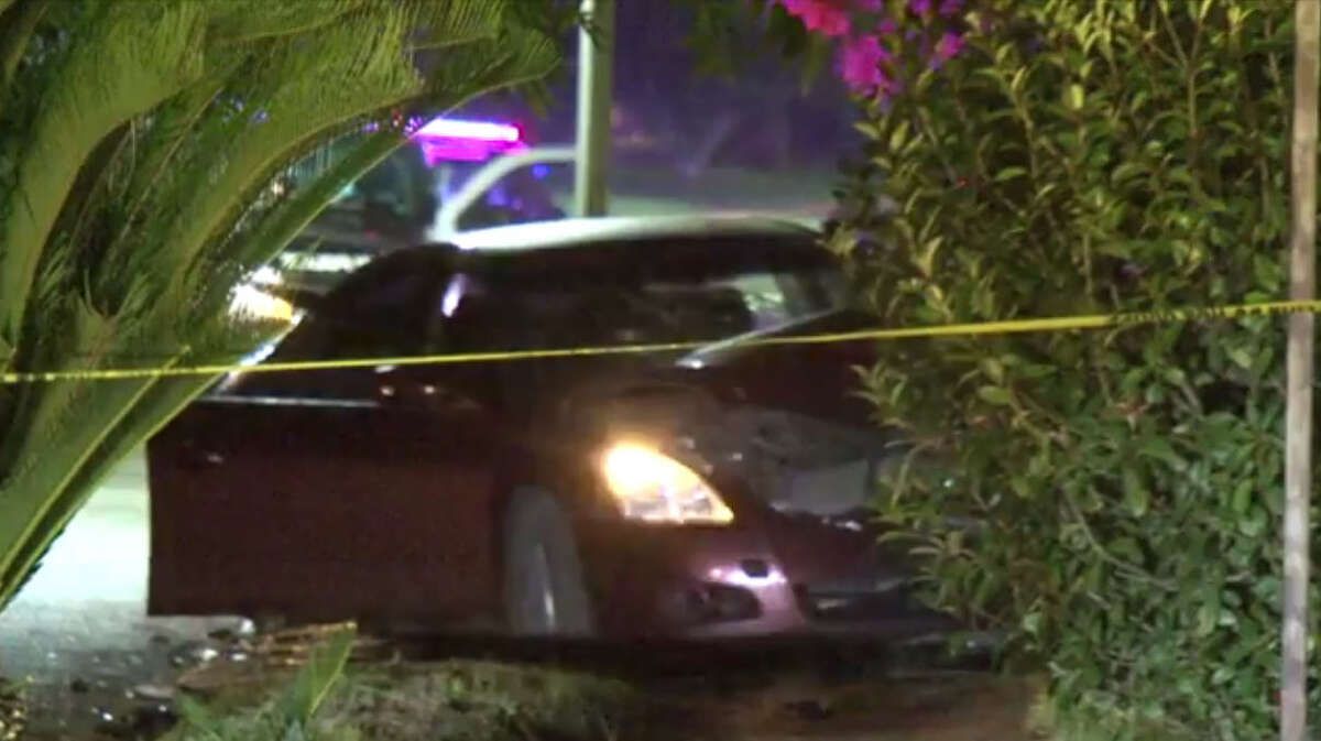 Two men were killed Saturday during an early-morning drive-by on a Houston home where the resident returned fire and hit occupants of the vehicle. Bullets were exchanged around 2:40 a.m. in the 400 block of Glenburnie on the city's northside. According to police, shots were fired from a burgundy sedan with three occupants rolling past the one-story brick house. A resident shot back and hit all of the individuals in the vehicle. The car crashed a short distance from the house.