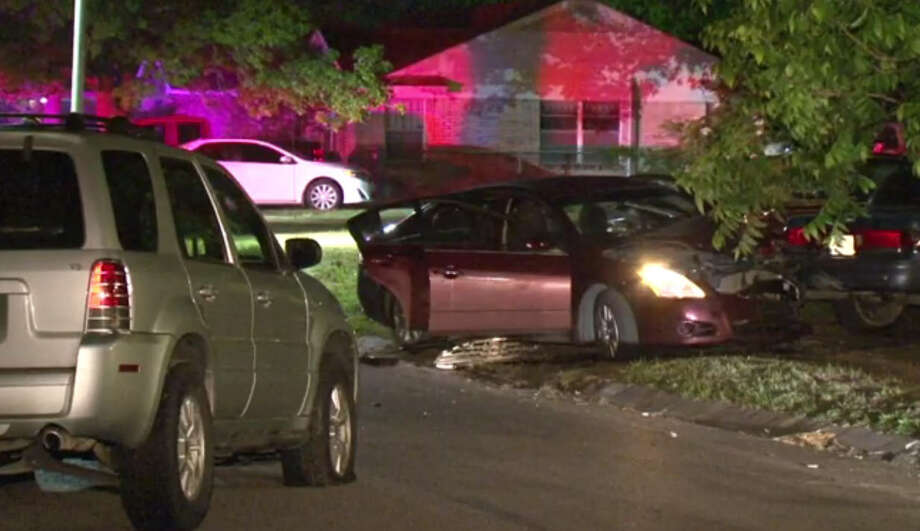 Two men were killed Saturday during an early-morning drive-by on a Houston home where the resident returned fire and hit occupants of the vehicle.